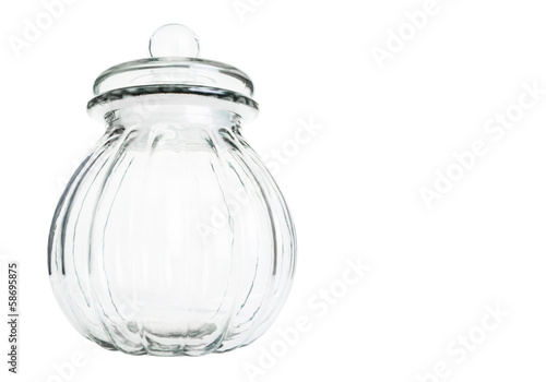 Tableau sur Toile Empty cookie jar over white background