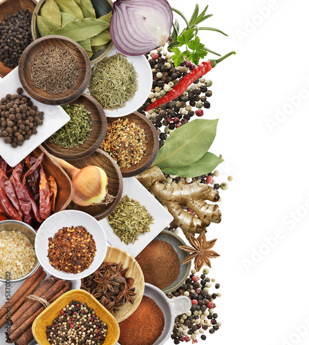 Fotografie, Obraz  Spices And Herbs