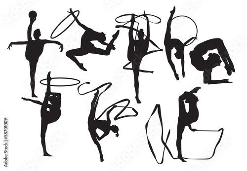 sylwetki-gimnastyczek-wektorowych
