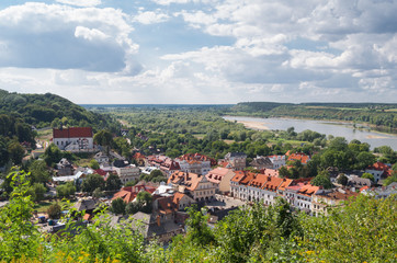 Obraz na SzklePanorama of Kazimierz Dolny, Poland