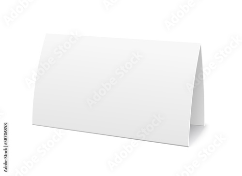 Photo  Paper table card, sign template