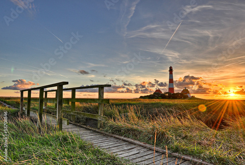 Photo Westerhever Leuchtturm