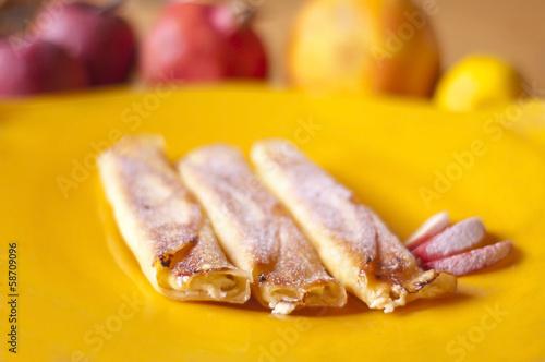 Fototapeta naleśnik ciasto jabłko obraz
