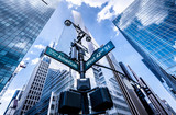 Fototapeta Nowy York - Direction signs in New York