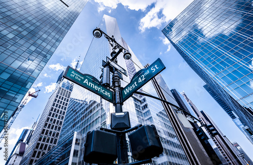 Direction signs in New York - 58715273
