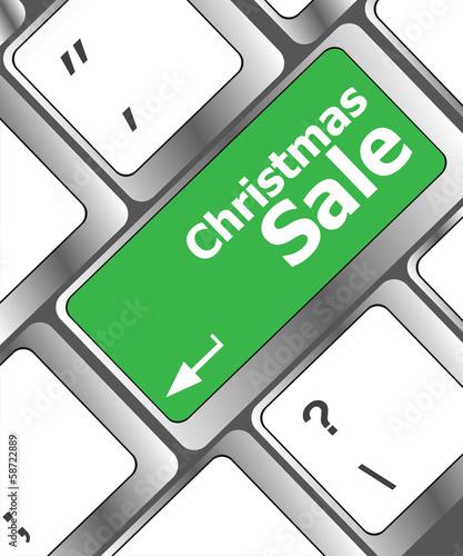christmas sale on computer keyboard key button