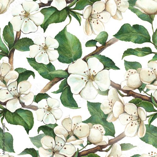 wzor-z-akwarela-jablko-kwiaty