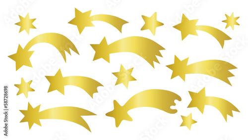 Photo set of shooting stars
