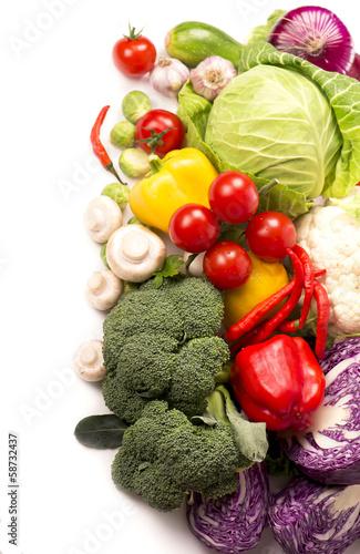 Fresh vegetables isolated on white © Irina Ukrainets