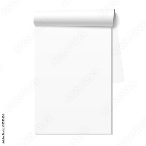 Photo Blank white notepad, notebook
