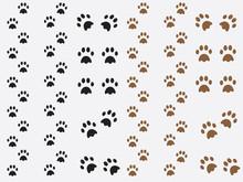 Black And Brown Dog Prints Illustration