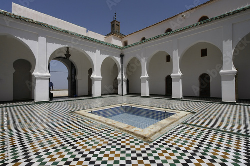 Photo Stands Algeria Sidi Boumediene Madrasa courtyard, Algeria
