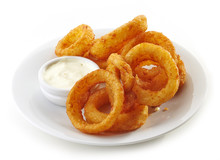 Onion Rings And Dip Sauce