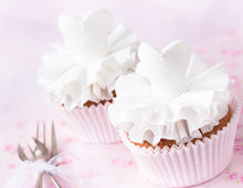 Beautiful Cupcakes For Wedding Or Little Ballerina.