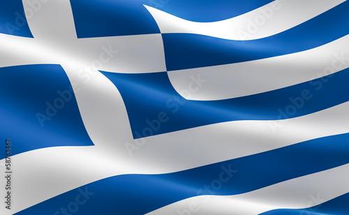 Greek flag - Hellenic Republic Tablou Canvas