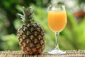 Fototapeta Koktajle Fresh pineapple and juice