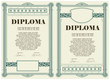 Vector vintage frame, certificate or diploma template
