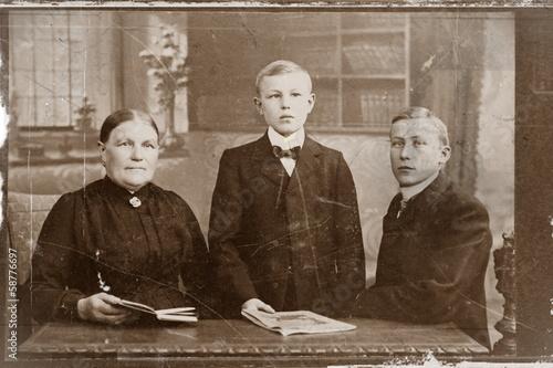 Poster  Zucht und Ordnung um 1900
