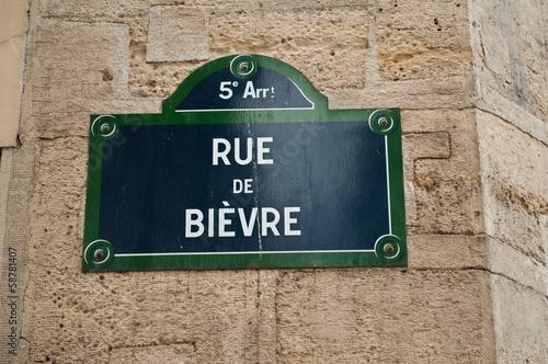 rue de Bièvre à Paris Poster