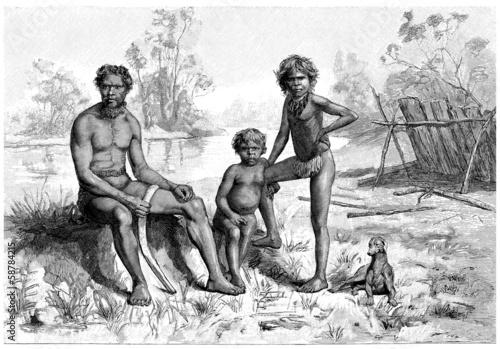 Traditional Australian Aboriginals Canvas Print