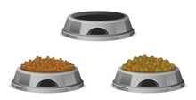 Pet  Food In Bowl