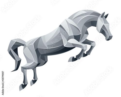 Obraz na płótnie Jumping stallion