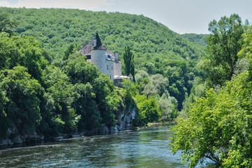 Fototapeta na wymiar France, La Treyne castle of Lacave in Lot
