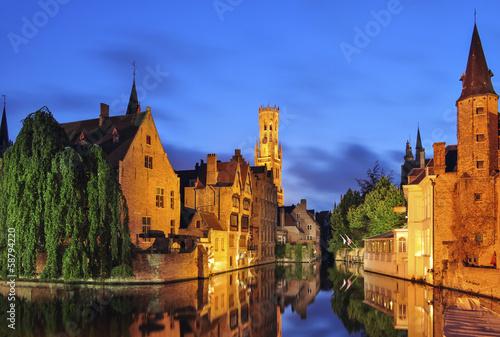Wall Murals Bridges Bruges at Twilight