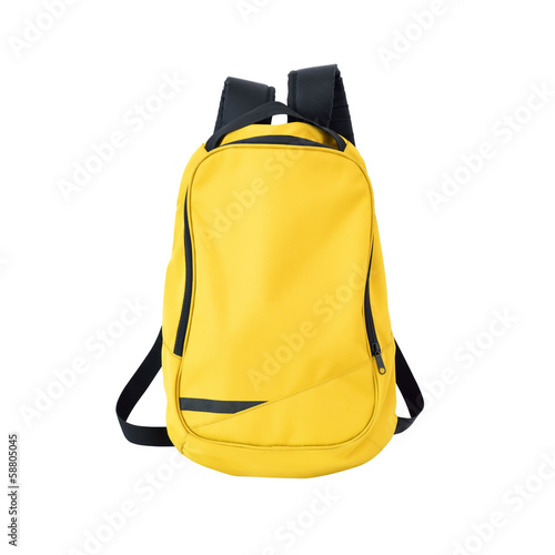 Obraz Yellow backpack isolated with path - fototapety do salonu