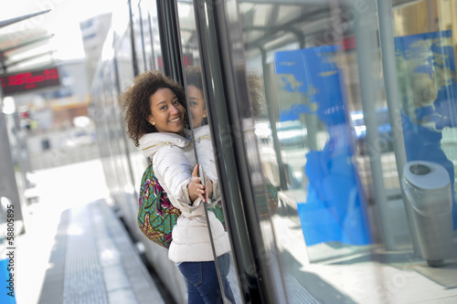Bus, Tour Bus, Tram, Women, Travel