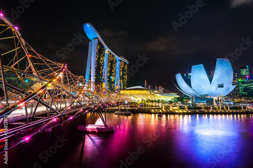 Tuinposter Singapore Marina Bay Sands, Singapore,