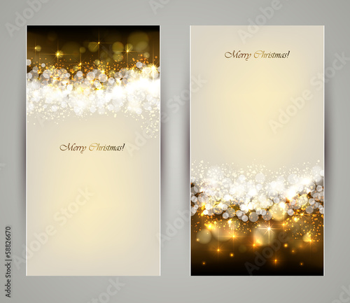 Two elegant Christmas greeting cards