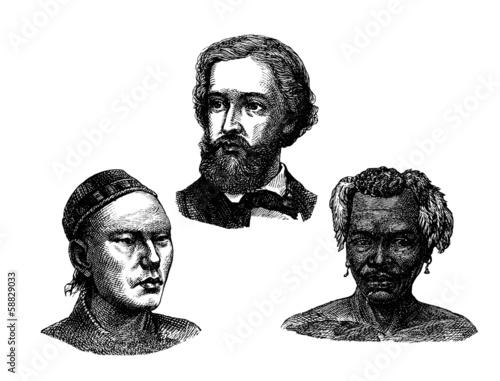 Fotografie, Obraz  Various Human Types - Faces