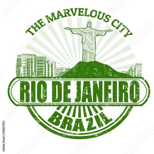 Rio de Janeiro ( The Marvelous City ) stamp Canvas Print