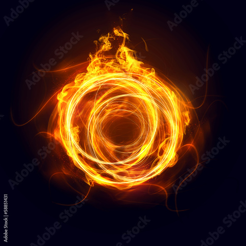 In de dag Vuur / Vlam Abstract Ring of Fire