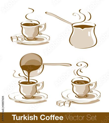 Fotografie, Obraz  Turkish Coffee Vector