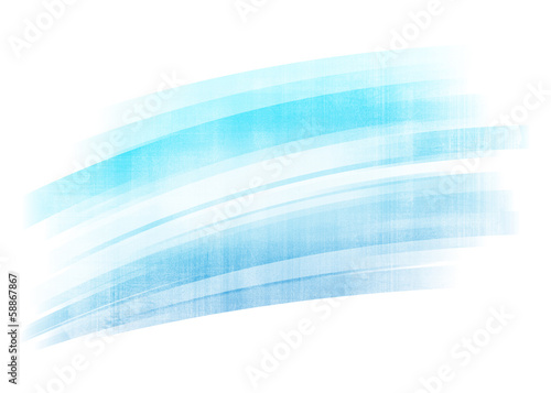 Wall mural - Blue painted brush stroke background