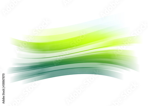Wall mural - Green painted brush stroke background