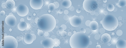 Blue floating bubbles coverphoto with panorama design