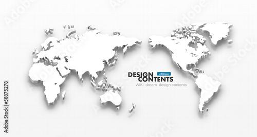 3d vector world map