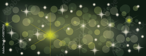 Christmas starry panorama banner for cover photo background