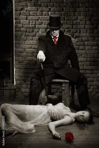 Photographie  Vampire and his victim