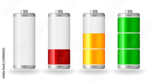 Photo vector glossy battery fullness indicator