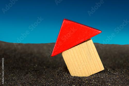 Fotografie, Obraz  Auf Sand gebaut, q.