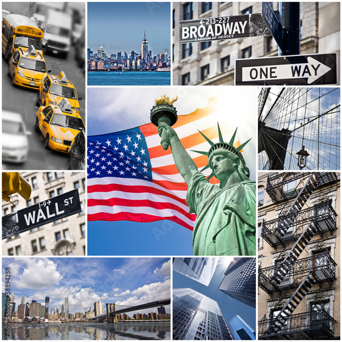 square-collage-new-york-usa