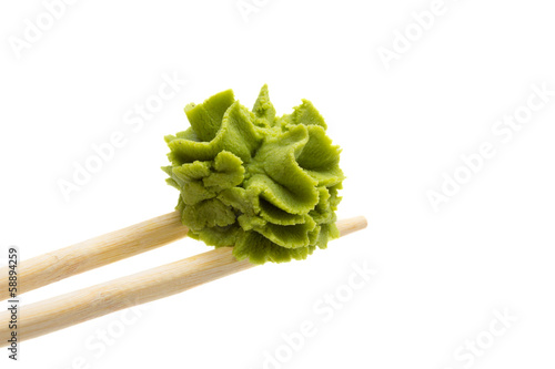 Wasabi isolated on white background Wallpaper Mural