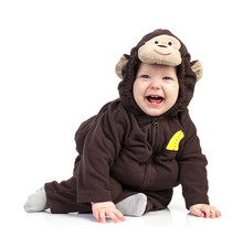 Baby Boy Dressed In Monkey Cos...