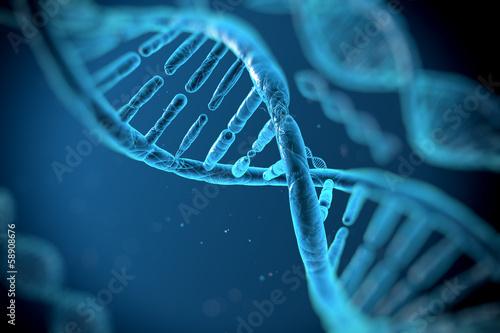 Obraz DNA molecules - fototapety do salonu