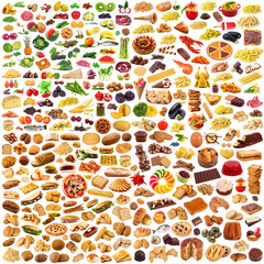 Fototapetaglobal food collage