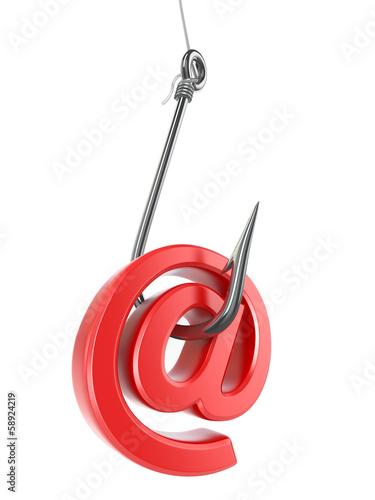 Fotografía  Phishing e-mail. 3d
